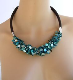 Collier Turquoise, Turquoise Necklace, Oeuvre D'art, Tour, Lady, Unique, Jewelry, Baroque Pearls, Mother Of Pearls