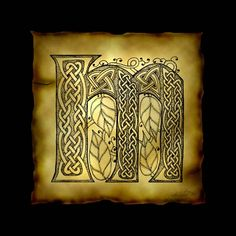 Celtic Letter M Poster