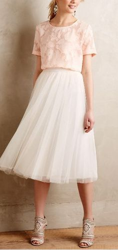 tulle skirt + sheer tee
