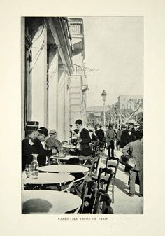 1903 Print Athens Olympic Games Cafes Street View Costume Historical Image XGFD2