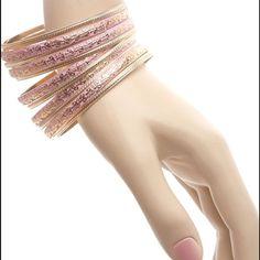 Gold Pink Bracelets Gold/pink multi bracelets 🎀 Jewelry Bracelets