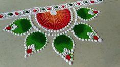 Easy Rangoli Designs Videos, Easy Rangoli Designs Diwali, Indian Rangoli Designs, Rangoli Designs Latest, Simple Rangoli Designs Images, Rangoli Designs Flower, Free Hand Rangoli Design, Small Rangoli Design, Rangoli Border Designs