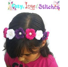 Adorable crochet flower crown. Perfect for Easter or a flower girl.