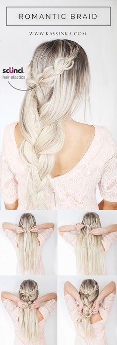 KASSINKA Romantic Braid Hair Tutorial with Scunci @scunci