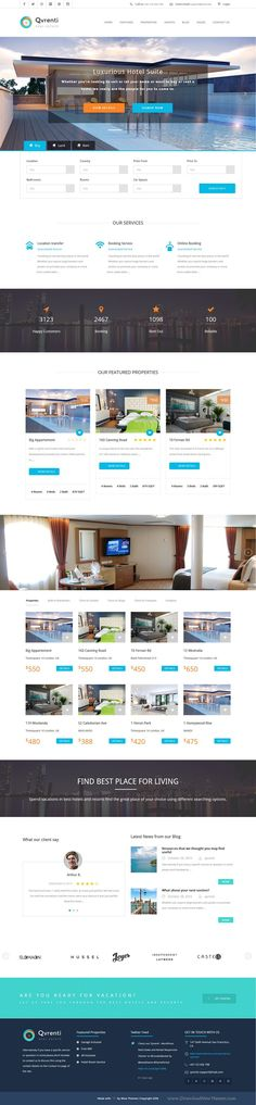 Qvrenti is Responsive WordPress Theme for Real Estate and Rental agency marvelous website. #Property #listing #webdesign #template Download Now!