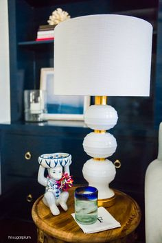 {One Room Challenge} The Source List & Breakdown Acrylic Chair, Side Table Lamps, Blue Couches, Residential Interior Design, Wing Chair, Little Monkeys, Living Room Colors, Ginger Jars, Bold Colors
