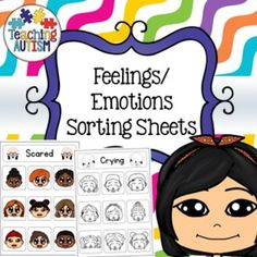 This resource contains 7 different feelings / emotions sorting worksheets. You can either use this as a re-usable activity where you laminate it all and use velcro or it can be used as a worksheet for students to cut and stick.7 emotions / feelings included; Sad, Crying, Laughing, Happy, Scared, Sick and Angry.