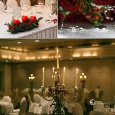 Christmas wedding in 3 locations, 2 parts, 1 story. Ceremony and celebration in Kilquade Church & Tinakilly House. Wedding Photos, Wedding Rings, Hotel Reception, Christmas Wedding, Wedding Details, Candles, Table Decorations, House, Hotel Reception Desk