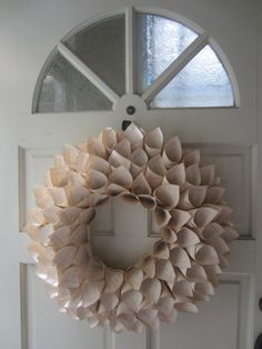 Great Step by Step Photo Tutorial for a Book Page Wreath. Great for a damaged book.