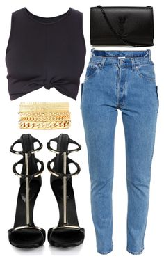 """""""Untitled #112"""" by omgitskaylapope on Polyvore featuring Vetements, Yves Saint Laurent and Charlotte Russe"""