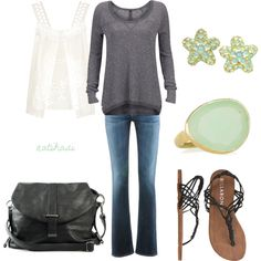 Comfy and Simple Spring Summer Outfit, created by natihasi on Polyvore