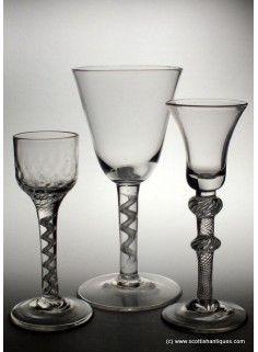 Large 18th Century Air Twist Wine Goblet c1750