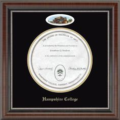 Signature Announcements Syracuse-University Doctorate Sculpted Foil Seal Name /& Tassel Graduation Diploma Frame 20 x 20 Cherry