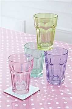 A selection of glasses, because staying hydrated after a night out is important!