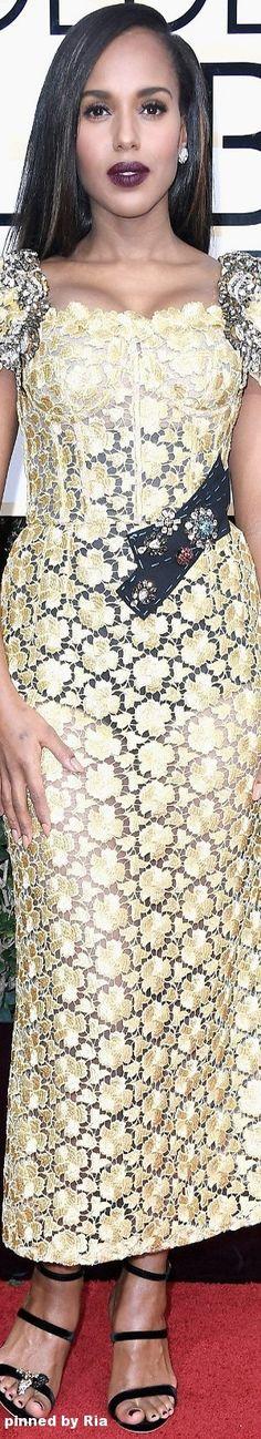 Kerry Washington in Dolce & Gabbana l The 2017 Golden Globe Awards l Ria