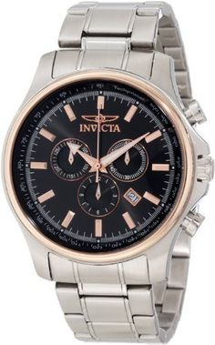Invicta Men's 10302 Specialty Elegant Chronograph Black Dial Stainless Steel Watch Invicta. $138.42