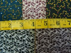 5 1800s Reproduction Brown Black Blue Prints Cotton by GrammysShop, $12.00