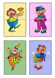 Planche 1 - Les clowns à assembler