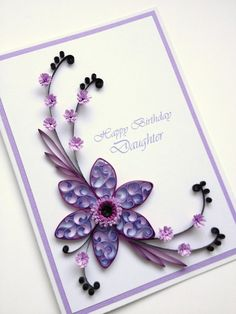 Paper Quilling Happy Birthday Daughter Card. Quilled por Joscinta, £6.00