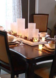 #fall table decorating idea
