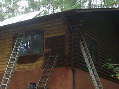 Tyron Media Blast Soda Blasting, Log Homes, Restoration, Cabin, House Styles, Home Decor, Timber Homes, Decoration Home, Room Decor