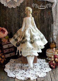 Куклы Тильды ручной работы. Ярмарка Мастеров - ручная работа Мегэйн интерьерная текстильная кукла тильда ангел. Handmade.