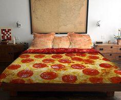 Le lit-pizza vous fera saliver à l'idée d'aller vous coucher !