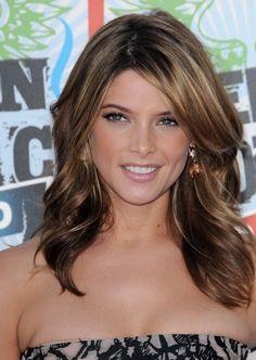 Dark brown hair with highlights @ Beauty Salon Hair Styles