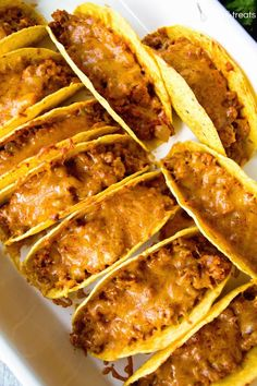 Easy Baked Tacos - #oventacos - Easy Baked Tacos... Oven Baked Tacos, Baked Tacos Recipe, Oven Baked Chicken, Mexican Food Recipes, Beef Recipes, Cooking Recipes, Cooking Rice, Dinner Recipes, Mexican Dishes