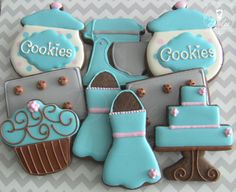 Baking Themed Decorated Sugar Cookies