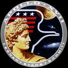 Apollo 17 badge