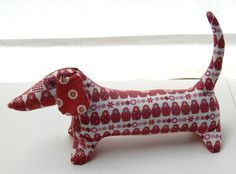 Free Dachshund dog pattern and tutorial