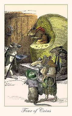 The Fantastic Menagerie Tarot Four of Coins