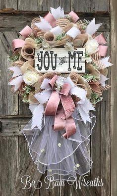 Wedding Wreath, Wedding Decor, Bridal Gift, Ba Bam Wreaths How to Get the Bride Bouquet Wreath Crafts, Diy Wreath, White Wreath, Wreath Ideas, Wedding Wreaths, Wedding Decorations, Decor Wedding, Bridal Gifts, Wedding Gifts