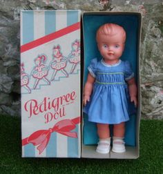 VINTAGE-1950-1960s-VINYL-12-inch-PEDIGREE-DOLL-MOLLY-in-ORIGINAL-DRESS-and-BOX