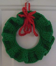 Christmas Wreath Crocheted