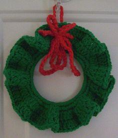 Christmas Wreath Crocheted