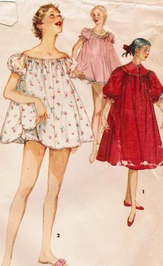 baby doll // Vintage 1955 Sewing Pattern - Love