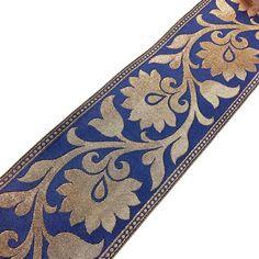 Table Runner Border Idea: Brocade Silk Border  Extra wide Indian Silk  Border by DesiFabrics, $10.00