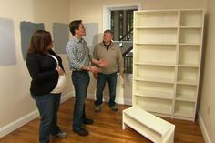 This Old House - using stock shelving for built-in cabinets
