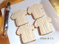 Custom Chocolate Decorated Butter Cookies