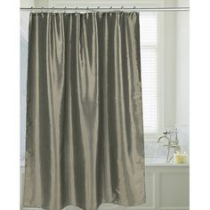 Andover Mills Shimmer Faux Silk Shower Curtain Color: Sage