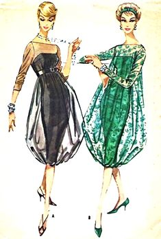 UNIQUE 1950s EVENING COCKTAIL PARTY DRESS PATTERN SHEATH with Attached SHEER OVERDRESS HAREM SKIRT EFFECT, BATEAU NECKLINE ABSOLUTELY STUNNING DESIGN McCALLS 4779 Bust 32 #VintageClothing #VintagePattern #VintageDress ##SewingPattern #50'sDress #VintageFashion