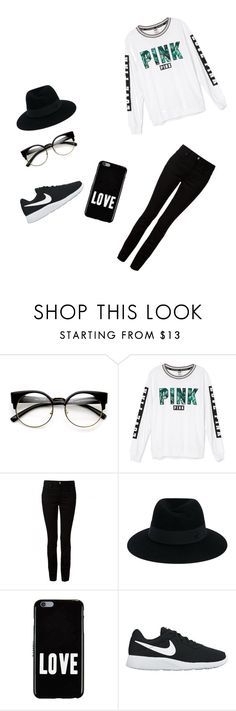 """""""Untitled #4"""" by icyshenderson-1 ❤ liked on Polyvore featuring Victoria's Secret, T By Alexander Wang, Maison Michel, Givenchy and NIKE"""