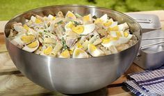 Koude pasta-tonijnsalade
