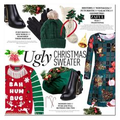 """""""Ugly Christmas Sweater"""" by vanjazivadinovic ❤ liked on Polyvore featuring Ugly Christmas Sweater, L.L.Bean, Mixit, polyvoreeditorial, uglychristmassweater and zaful"""
