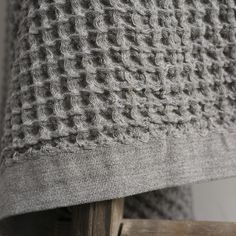 Lattice thick cotton waffle weave blanket www.clothandgoods.com