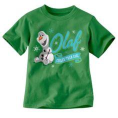 "Disney Frozen Olaf ""Cooler Than Cool"" Tee - Toddler SHOP KOHLS"