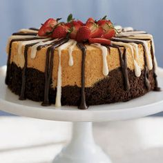 Make your Easter menu memorable by ending on a sweet note like this Black and White Angel Food Cake. Beaten egg whites create the light, airy texture of this classic dessert.View Recipe: Black and White Angel Food Cake Angel Cake, Angel Food Cake, Köstliche Desserts, Delicious Desserts, Dessert Recipes, Easter Desserts, Easter Cake, Spring Desserts, Elegant Desserts