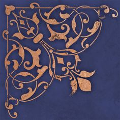 Arabesque Ceiling Corner Stencil by Royal Design Studios     Love this design!  Great for ceilings, walls, furniture, or mirrors!